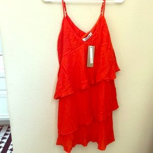 Do+Be collection red/orange mini dress